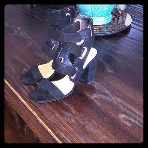 Qupid Shoes - Qupid strappy black heels 7.5